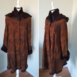 Jackets & Blazers - Genuine Shearling Lapin Coat